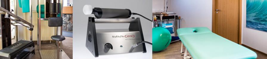 Geräretraining, Matrix-Rhytmus-Therapie, Physiotherapie und physikalische Therapie